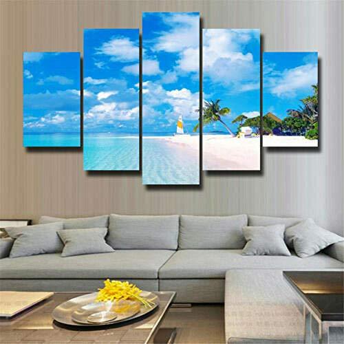 Decorsy Leinwanddrucke Leinwandbilder Wandkunst 5 Stücke Hawaii Moderne Dekoration Malerei Poster