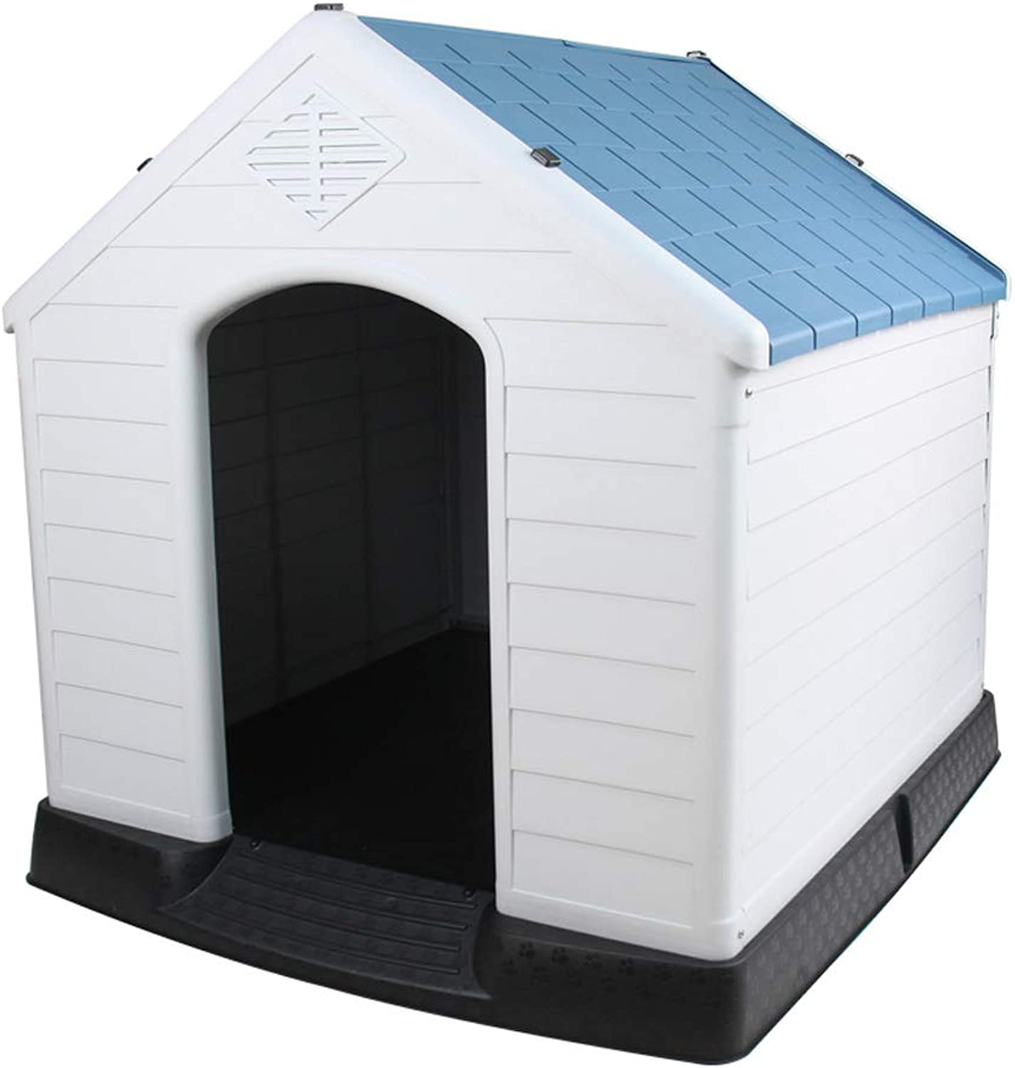 Kennel QIQIDEDIAN Pet Plastic Large Dog Autumn And Winter Dog Bed House Removable Dog House Cat Litter golden (color   bluee)