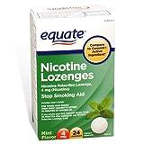 Equate - Nicotine Lozenge 4 mg, Stop Smoking Aid, Mint Flavor, 24 Lozenges
