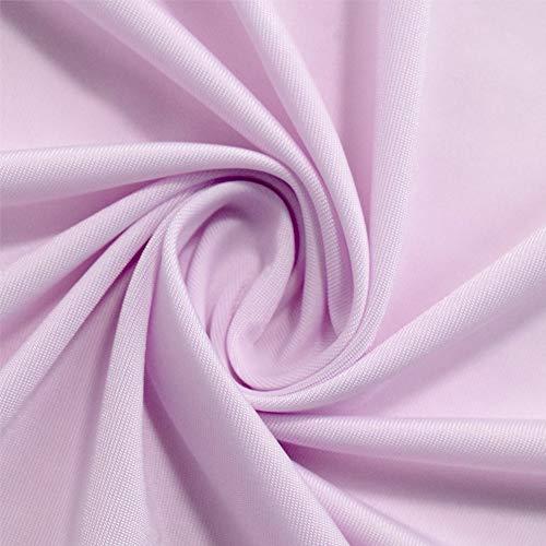 ひんやり 接触冷感 アイスシルクコットン生地 優しい肌触り 100×170cm 夏マスク ハンドメイドに!手作り用 生地 (パープル)
