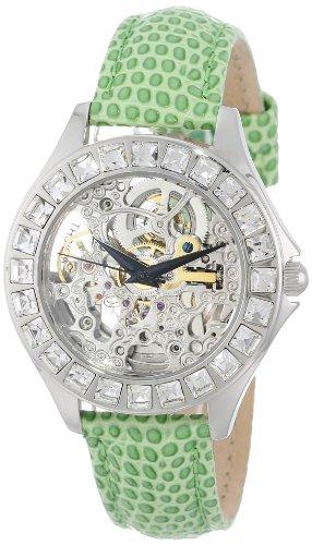 Burgmeister Armbanduhr für Damen mit Analog Anzeige, Automatik-Uhr und Lederarmband - Wasserdichte Damenuhr mit zeitlosem, schickem Design - klassische, elegante Uhr für Frauen - BM520-100A Merida