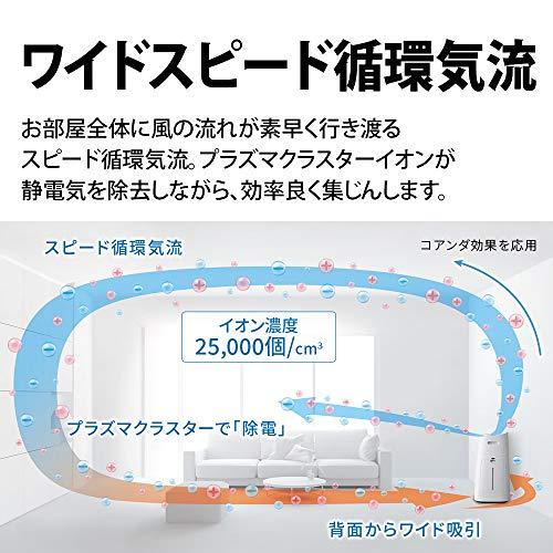 シャープ加湿空気清浄機プラズマクラスター25000ハイグレード21畳/空気清浄34畳自動掃除2018年モデルブラウンKI-LX75-T