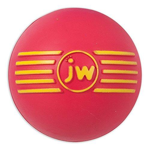 JW JW43031 Juguete Isqueak Ball Madium, Pelota De Goma Gruesa para Perros, M