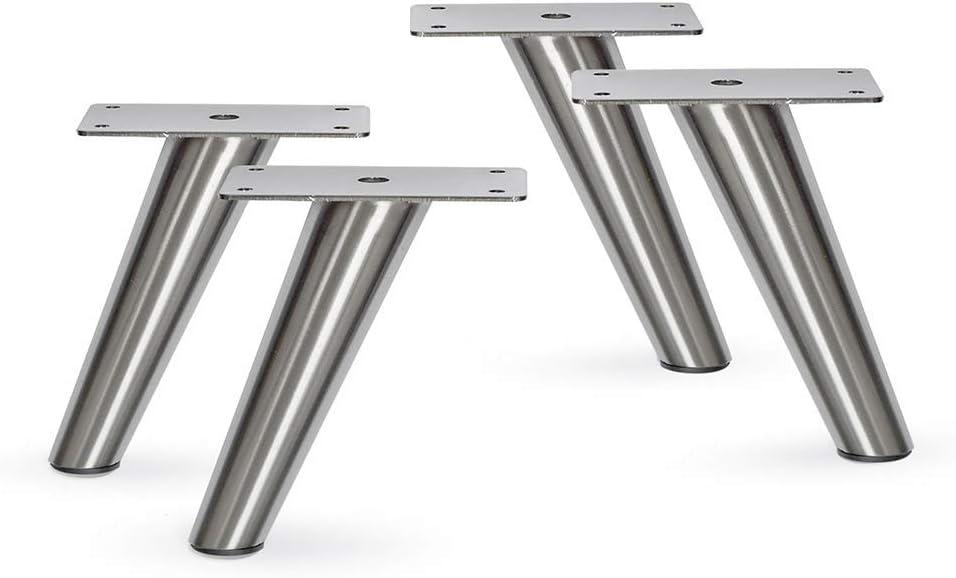 Slant Furniture Metal Legs - Overseas parallel import regular item Set of Nickel H 5
