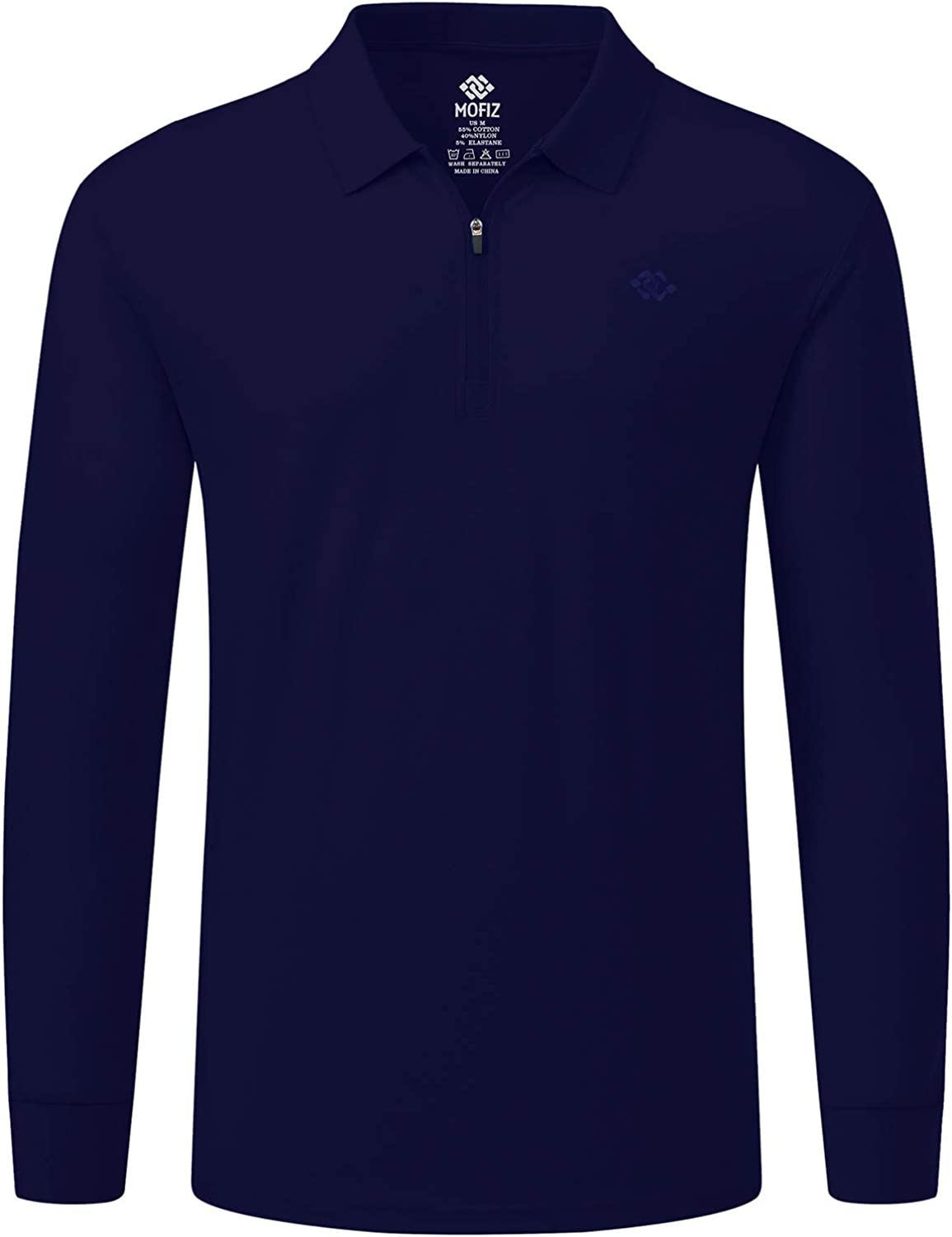 AjezMax Men's Golf Shirts sold out Long Sleeve Polo Casual Solid Shirt Seasonal Wrap Introduction
