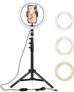 """ESR Luz TIK Tok 10"""" LED Anillo de Luz, Aro de Luz con Trípode y Soporte para Teléfono Móvil, 3 Modos de Luces para Tiktok ..."""