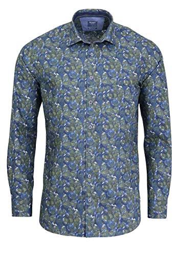 OLYMP Herren Hemd Popeline Oberhemd Blau M