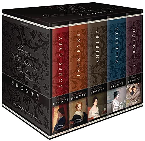Brontë, Die großen Romane - Agnes Grey - Jane Eyre - Villette - Shirley - Sturmhöhe (5 Bände im Schuber)