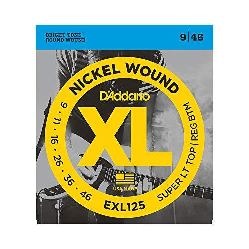 D'Addario EXL125 - Juego de cuerdas para guitarra eléctrica de níquel, 009' - 046'