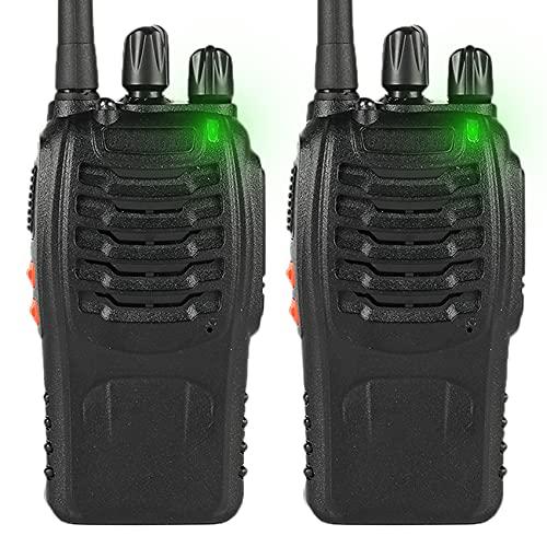 PMR446 Funkgerät Lizenzfrei, Wiederaufladbar pmr-funksysteme, 16CH Walkie Talkie, PMR 1500mAh Akku Handfunkgerät mit Headset, 2 Stücke