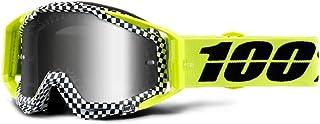 100 Percent RACECRAFT Goggle Andre-Mirror Silver Lens Gafas de protección, Adultos Unisex, Ajedrez-Cristal Plateado, Mediano