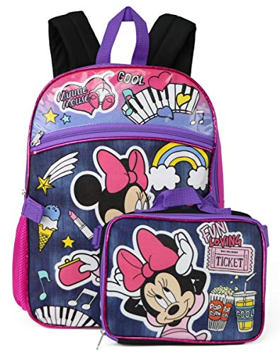 Disney Minnie Mouse 16' Backpack With Detachable Matching Lunch Box