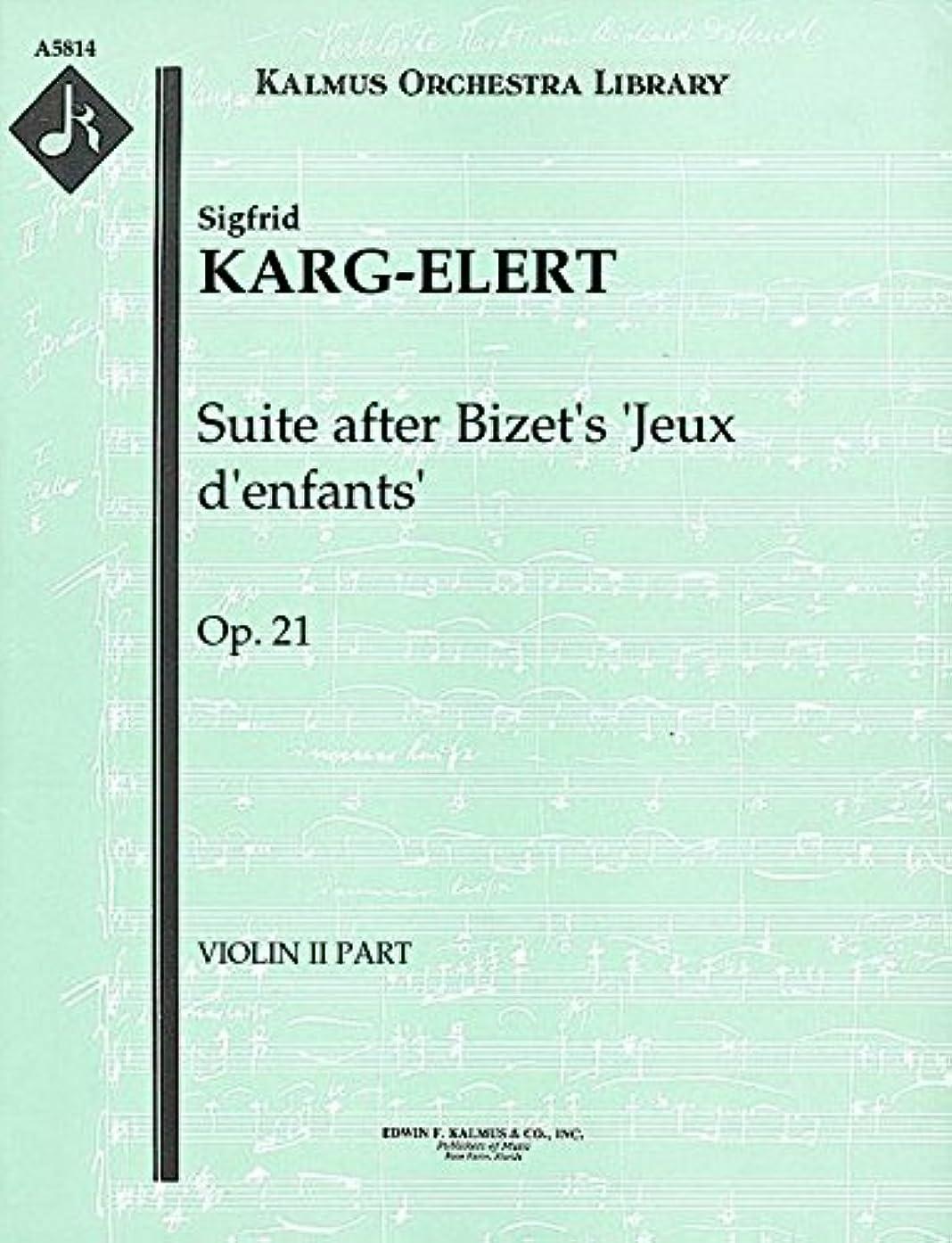 Suite after Bizet's 'Jeux d'enfants', Op.21: Violin II part (Qty 3) [A5814]