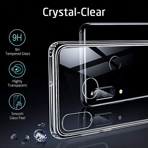 ESR Glashülle kompatibel mit Huawei P30 Lite - 9H Hartglas Handyhülle mit dualer Rückseite - Kratzfeste Schutzhülle mit weichem TPU Bumper für Huawei P30 Lite - Klar - 5