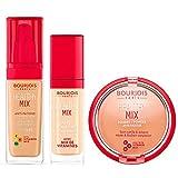 Bourjois Healthy Mix Base + Polvos bronceadores + corrector: Base de maquillaje tono 53, Polvos de maquillaje tono 04 y Corrector tono 051
