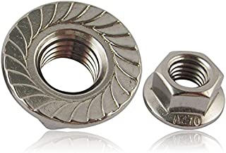 5 Bolt Base A2 Stainless Steel Hex Serrated Flange Nuts Flanged Nuts M10 X 1.50mm Pitch