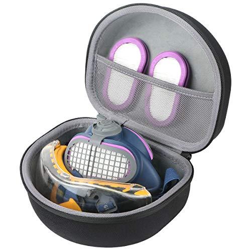 co2CREA Harte reiseschutzhülle Etui tasche für GVS Elipse P100 Elipse Half Mask Respirator + Dewalt DPG82–11 Dual Form Sicherheit Goggle(travel case)