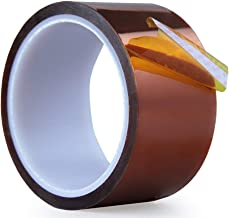 Heat Resistant Tape - Heat Press Tape Sublimation Tape - for Heat Transfer Vinyl, High Temperature Tapemil Thick Polyimide Adhesive Tape(2 inch X36Yds)