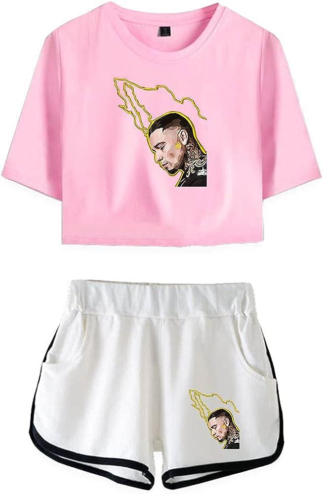 Tydres Gera MX 2 Piece Sets Casual Two Piece Suit Woman Girls Short & Tops Suit Singer Short Sleeve (PW-KB03584,XS)