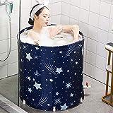 Bañera plegable, bañera de spa portátil, bañera de cubo, bañera de PVC de 3 capas, bañera piscina, cubo de baño para adultos y bebés