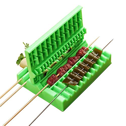 Lowest Prices! Luixxuer 3-in-1 Multifonction BBQ Barbecue Meat Skewer Device Machine-BBQ Meat String...
