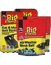 The Big Cheese väderblock 600 g + 2 x rått- och musbetestationer gnagarkontroll, flerfärgad