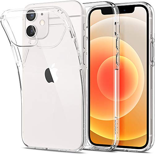 Spigen Liquid Crystal Hülle Kompatibel mit iPhone 12 Mini -Crystal Clear