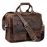 Kattee Crazy Horse Leather Briefcase Shoulder Business Laptop...