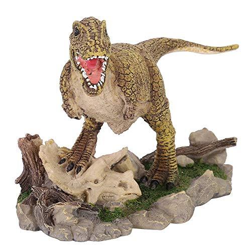 Gancon Simulación de Resina Kit de Decoraciones de Reptiles para acuarios Terrario Pecera, Cueva de Reptiles Que Oculta el Paisaje(Dinosaurio)