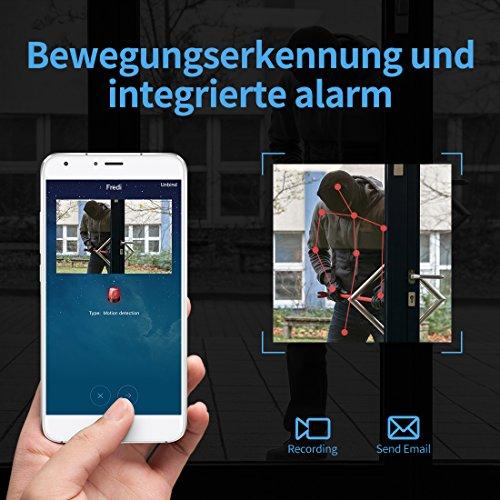 Mini kamera ,FREDI HD 1080P Tragbare Wlan Netzwerk Klein IP Kamera mini Kamera P2P Drathlos mit Bewegungsmelder /Mikrofon/Videoaufzeichnung Überwachungskamera mit akku (Verbesserte)