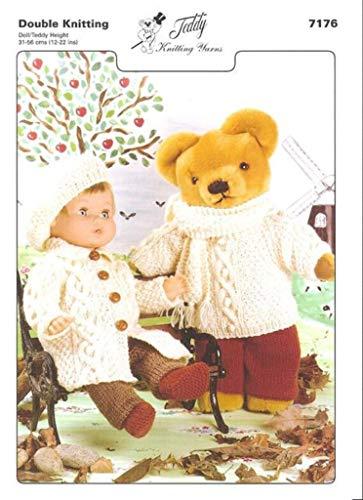 Teddy Breipatroon - Dubbele gebreide pop en Teddy outfits. Met dit eenvoudig te volgen patroon kunt u zowel de Poppenkleding als Teddy's Kleding breien.
