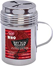 Tablecraft, 10 oz, Silver Stainless Steel Dry Rub Shaker with Handle, 10-Ounce (BBQ160H)