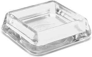 GleitGut Meubelonderzetters hoekig glijschaal transparant 4 stuks meubelbescherming transparant (30 x 30)