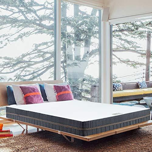 BedStory Matratze 140 x 200 cm 18cm, 7-Zonen-Kaltschaummatratze Orthopädische Matratze, 2 in 1 Liegehärten H2&H3 mittelfest Grau