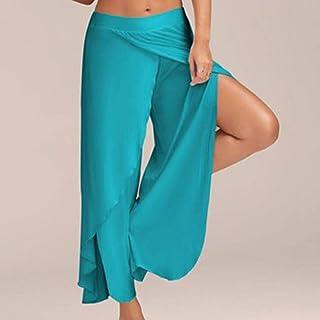 Women's Yoga Pants Elastic High Waist Straight Loose Casual Fitness Running Yoga Pants Outdoor Leisure Sports Wide-Legged ...