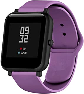 Klaas NIC 20mm Rubber Band Compatible with Samsung Galaxy Gear Sport,Quick Release Strap for Amazfit Bip/GTR 42m/Huawei 2/Ticwatch 2/S/E/Moto 360 2nd Gen 42mm Smart Watch