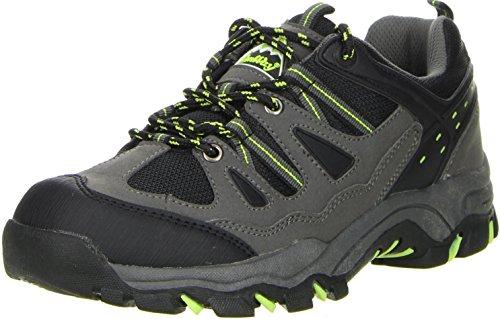 ConWay Damen Herren Trekkingschuhe Outdoorschuhe schwarz, Größe:43, Farbe:Schwarz