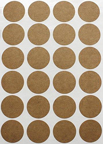 Etiketten Kraftpapier 25 mm runde Punkt Klebepunkte – in verschiedenen Farben Größe 2,5 cm Durchmesser Sticker 120 Vorteilspack von Royal Green