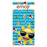 Artesanía Cerdá 2200002250 Toalla Playa algodón, diseño Emoji