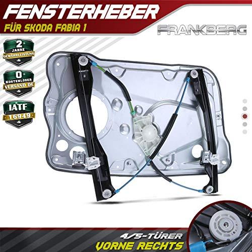Frankberg Fensterheber Mit Grundplatte Vorne Rechts für Fabia I 6Y2 6Y3 6Y5 für4/5-Türer 1999-2008 6Y1837462