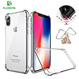 FLOVEME Clear Ultra Thin Anti-Drop 360 Degree Protected Case for iPhone X /8 /Plus /7 /Plus /6 /Plus (Clear/X)