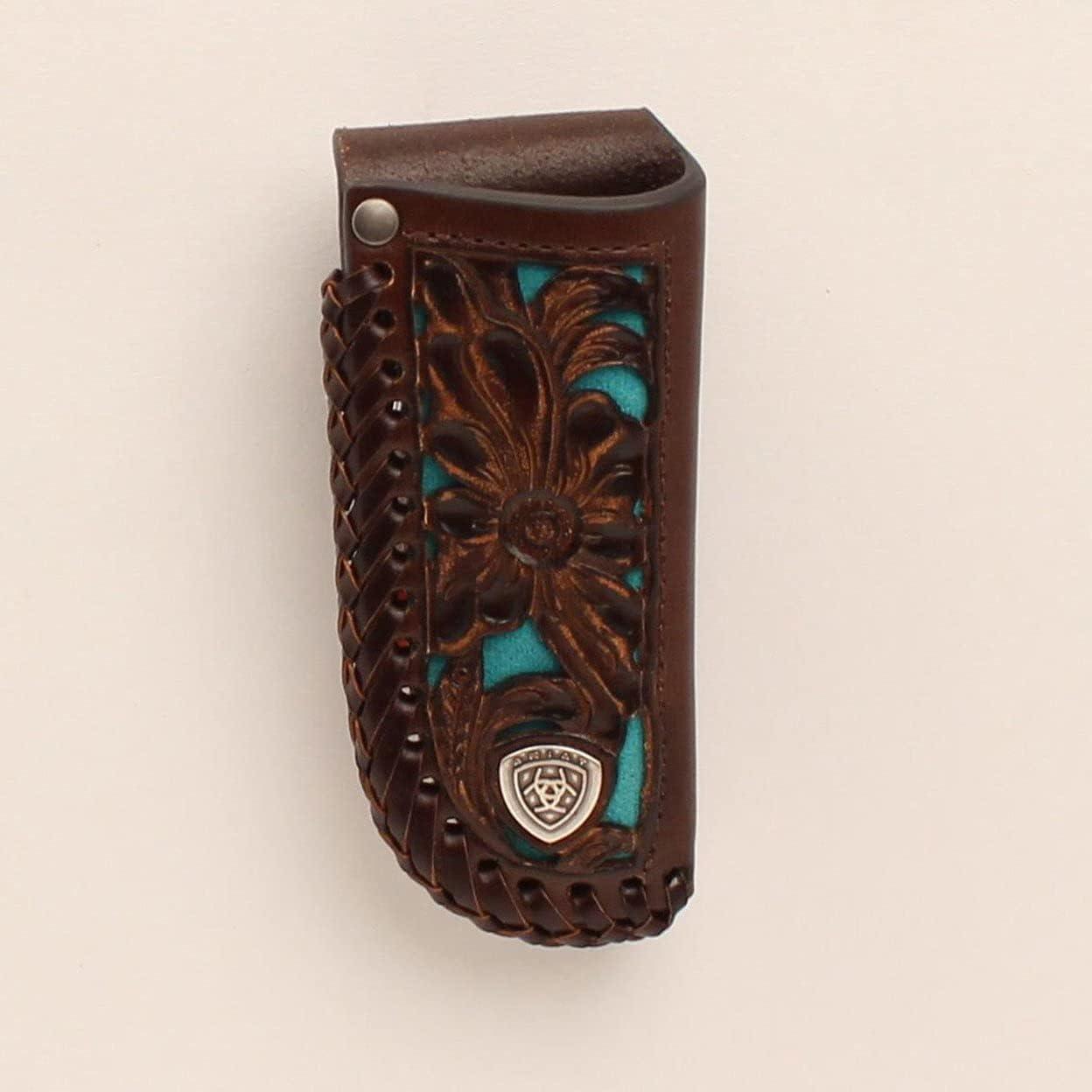 Ariat Leather Turquoise Award Inlay Sheath - Indefinitely Knife