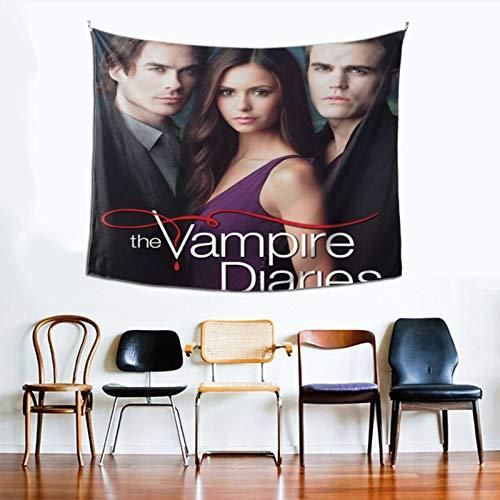 wteqofy The Vampire Diaries Tapisserie Wandbehang exquisite Dekoration einseitige Druckteppiche in voller Breite