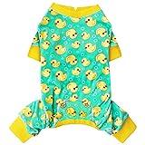 kyeese Dog Pajama Yellow Duck Soft Material Stretchable Dog Pajamas...