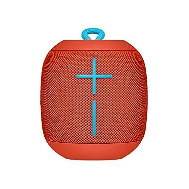 Ultimate Ears WONDERBOOM Waterproof Super Portable Bluetooth Speaker – IPX7 Waterproof – 10-Hour Battery Life – Fireball Red