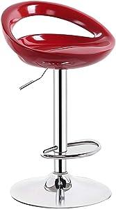 Barhocker, Heimhocker, Drehstuhl, Stehtisch und Stuhl, Barhocker mit Fußstütze-red