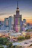 Varsovia Polonia Casas nocturnas CitiesAdult Puzzle niños 1000 Piezas Juego de Rompecabezas de Madera Regalo decoración del hogar Recuerdo de Viaje Especial