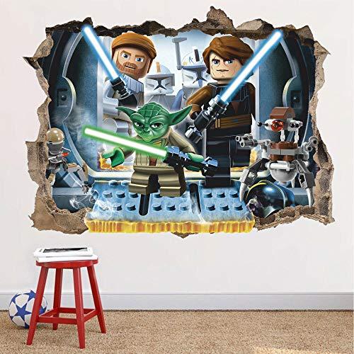 Pegatinas de pared'Star Wars 3d etiqueta de la pared Lego Star Wars etiqueta de la pared, juguete, desmontable'
