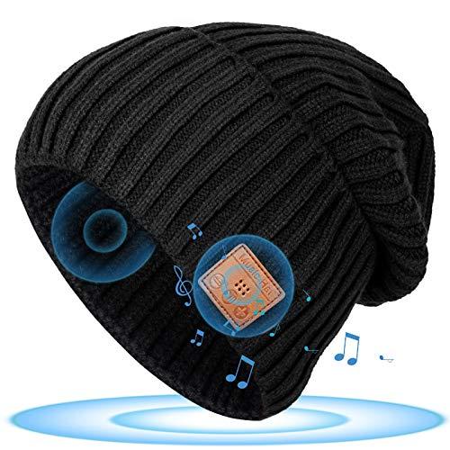 Bluetooth Mütze Geschenke für Frauen & Männer - Ausgefallen Mütze Männer Geschenke Weihnachten, Sport Mütze mit Kopfhörern Bluetooth 5.0, Lustige Geschenke für Mama/Papa/Oma/Mann, Mütze Damen