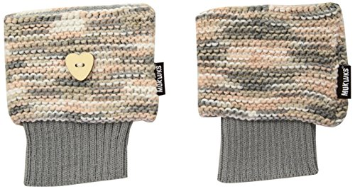 Muk Luks Women's Heart Boot Topper, Grey, One Size fits Most